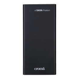 Croma 10000mAh 2-Port Power Bank (Rechargeable Battery, CRCA0083, Black)_1