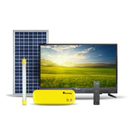 SunKing Home 250 (81 cm) (32 Inch) HD Ready Flat Panel Standard (Solar Powered Control Unit with Tubelight, SK-433, Black) _1