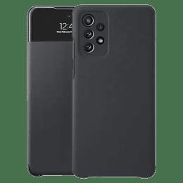 Samsung Smart S View TPU Flip Case For Galaxy A72 (Clear Mini Window, EF-EA725PBEGIN, Black)_1
