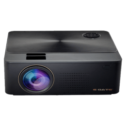 Egate K9 Android HD LED-LCD HD Projector (3000 Lumens, HDMI + USB + VGA + SD/mSD + DisplayPort + Aux + Bluetooth + Wi-Fi, Replaceable Lens, E11k63, Black)_1