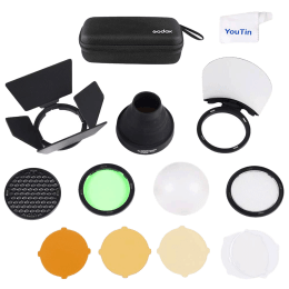 Godox Flash Head Accessory Kit for Godox V1 Flash, AD200 and AD200Pro (Magnetically Attached Modifiers, AK-R1, Multicolor)_1
