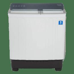 Panasonic 10.5 kg 5 Star Semi-Automatic Top Load Washing Machine (Soak Function, NA-W10H5HRB, Grey)_1