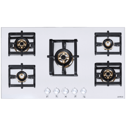 Elica Inox Pro FB MFC 5B 90 MT 5 Burner Stainless Steel Built-in Gas Hob (Cast Iron Grids, 3025, Steel)_1