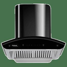Hindware Revio Plus 1200 m³/hr 60cm Wall Mount Chimney (Thermal Auto Clean, 517055, Black)_1