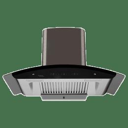 Hindware Revio Plus 1200 m³/hr 90cm Wall Mount Chimney (Thermal Auto Clean, 517056, Black)_1