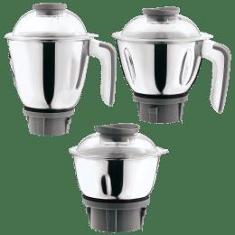 Croma Jars For Juicers Mixers Grinders (Stainless Steel Jars, CRAK4181, Grey)_1