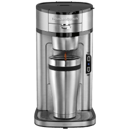 Hamilton Beach The Scoop 1 Cup Fully Automatic Coffee Maker (49981-SAU, Silver) _1