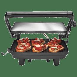 Hamilton Beach 1400 Watts 4 Slices Automatic Grilling Sandwich Maker (25460-IN, Black)_1