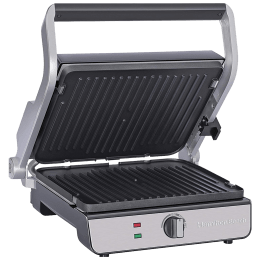 Hamilton Beach 1740 Watts 4 Slices Automatic Grilling Waffle Making Griller (25341-SAU, Silver)_1