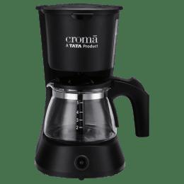 Croma 5 Cups Manual Coffee Maker (CRAK0029, Black)_1