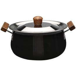 Wonderchef Ebony Handi For Induction, Stoves & Cooktops (Anodized Coating, 63152542, Black/Brown)_1