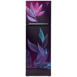 Samsung 253 Litres 2 Star Frost Free Digital Inverter Double Door Refrigerator (Solar Compatible, RT28T31429R/HL, Paradise Bloom Purple)_1