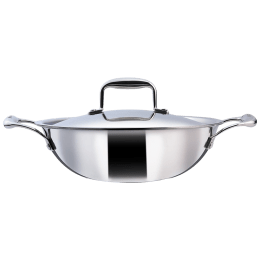 Wonderchef Nigella Kadhai For Induction, Induction Plate, Stoves & Cooktops (Energy Efficient, 63153401, Silver)_1