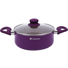 Wonderchef Royal Velvet Casserole For Induction, Induction Plate, Stoves & Cooktops (Non-Stick Coating, 63152944, Purple)_1