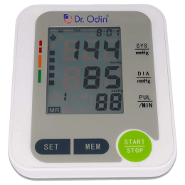 Dr. Odin LCD Blood Pressure Monitor (Auto Power Off, BSX516, White)_1