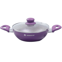 Wonderchef Royal Velvet Wok For Induction, Induction Plate, Stoves & Cooktops (Non-Stick Coating, 63152112, Purple)_1
