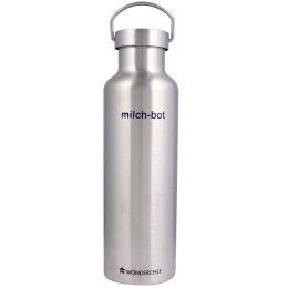 Wonderchef Milch-Bot 0.75 Litres Stainless Steel Water Bottle (Vacuum Insulated, 63153234, Silver)_1