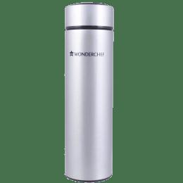 Wonderchef Nutri-Bot 0.48 Litres Stainless Steel Water Bottle (Vacuum Insulation, 63152859, Steel)_1