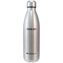 Wonderchef Hydro Bot 0.5 Litres Stainless Steel Water Bottle (Spill and Leak Proof, 63153140, Silver)_1