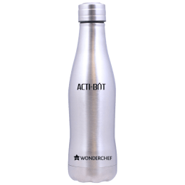 Wonderchef Acti-Bot 0.65 Litres Stainless Steel Water Bottle (Spill and Leak Proof, 63153146, Silver)_1