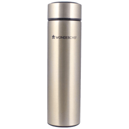 Wonderchef Nutri-Bot 0.48 Litres Stainless Steel Water Bottle (Vacuum Insulation, 63152930, Gold)_1