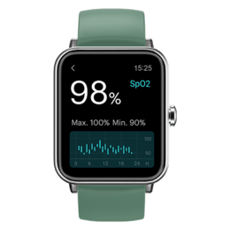 Noise ColorFit Pro 3 Smart Watch (39.37mm) (Customizable and Cloud-Based Watch Face, wrb-sw-colorfitpro3-std-gry_grn, Silver/Smoke Green, Silicone)_1
