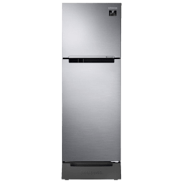 Samsung 253 Litres 2 Star Frost Free Digital Inverter Double Door Refrigerator (Base Stand Drawer, RT28T3122S9/HL, Refined Inox)_1