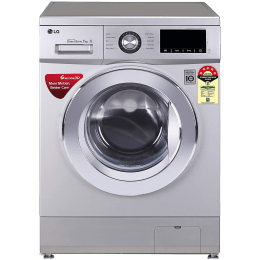 LG 7 kg 5 Star Fully Automatic Front Load Washing Machine (Smart Diagnosis, FHM1207ZDL.ALSQEIL, Luxury Silver)_1