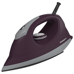 Crompton Pebble 1100 Watts Dry Iron (6 Fabric Settings, ACGEI-PEBBLE, Purple)_1