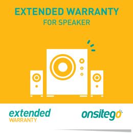 Onsitego 1 Year Extended Warranty for Audio System (Rs.100,000 - Rs.150,000)_1