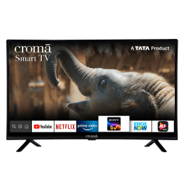 Croma 80cm (32 Inch) HD Ready LED Android Smart TV (3 Years Warranty, Screen Mirroring, CREL7370, Black)_1