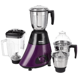 Usha Trienergy Plus 800 Watts 4 Jars Mixer Grinder (100 Percent Copper Motor, TP800MX4, Purple)_1