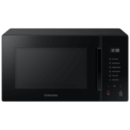 Samsung Baker 23 Litres Solo Microwave Oven (Healthy Steam Cooking, MS23T5012UK/TL, Pure Black)_1