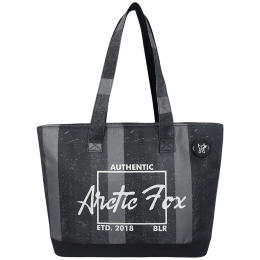 Arctic Fox 15 Litres Polyester Tote Bag for 15 Inch Laptop (Spacious Padded Compartment, FUNSLIBLKWZ098015, Black)_1