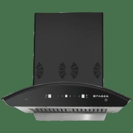 Faber Premia 3D Plus IND HC SC 1298 m³/hr 60cm Wall Mount Chimney (3 Layer Baffle Filter, Black)_1
