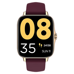 Pebble Cosmos Smart Watch (43.18mm) (Built-in Thermometer, PFB06, Gold/Wine, Sillicone Strap)_1
