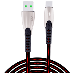Back-Brainers Love TPE 1.2 Meter USB 2.0 (Type-A) to USB 3.0 (Type-C) Power/Charging USB Cable (Fast Charging Compatible, BB-12020, Black)_1