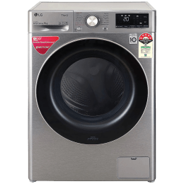 LG 9 kg 5 Star Fully Automatic Front Load Washing Machine (Inverter AI Direct Drive Motor, FHV1409ZWP.APSQEIL, Platinum Silver)_1