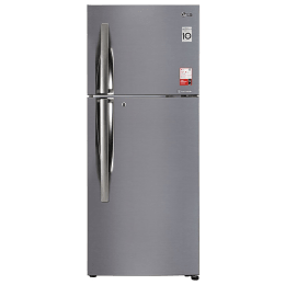 LG 260 Litres 2 Star Frost Free Inverter Double Door Refrigerator (Convertible, GL-S292RPZY.APZZEB, Shiny Steel)_1