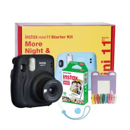 Fujifilm Instax Mini 11 Instant Camera Starter Kit (Real Image View Finder, IC0125, Charcoal Grey)_1