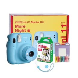 Fujifilm Instax Mini 11 Instant Camera Starter Kit (Real Image View Finder, IC0125, Sky Blue)_1
