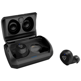 RAEGR AirShots 550 In-Ear Active Noise Cancellation Truly Wireless Earbuds With Mic (Bluetooth 5.0, Ipx7 Waterproof, RG10110, Black)_1