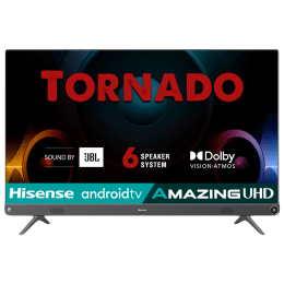 Hisense A73F 126cm (50 Inch) Ultra HD 4K LED Android Smart TV (Built-in Google Assistant, 50A73F, Metal Grey)_1