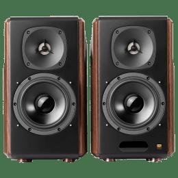 Edifier 2.0 Channel 130 Watts Bookshelf Speaker (OLED LCD Screen, S2000MKIII, Brown)_1