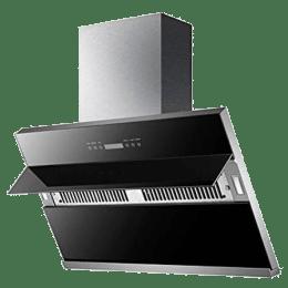 KAFF 1340 m³/hr 90 cm Wall Mount Chimney (Dry Heat Auto Clean Technology, NOBELO TX DHC 90, Black)_1