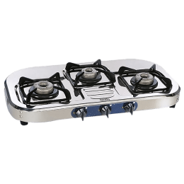 Glen CT1037SSAL 3 Burner Stainless Steel Gas Stove (Maximum Cooking Space, Silver)_1