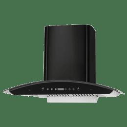 KAFF 1180 m³/hr 75 cm Wall Mount Chimney (3 Speed Gesture Motion, PRIMA TX DHC 75, Black)_1