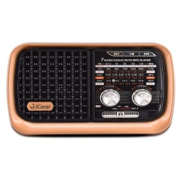 iGear Vintage Vibes 8 Watts MP3 Player (Rechargeable Battery, iG-1112, Black and Copper)_1