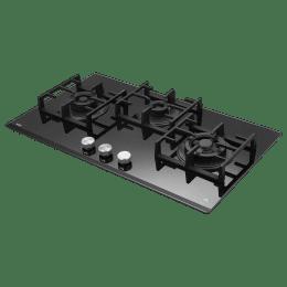 Kaff Milano - X 3 Burner Black Beveled Glass Built-in Gas Hob (Unique Dotted Design, NVH 783, Black)_1