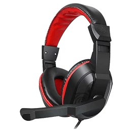 Gizmore Giz Over-Ear Noise Isolation Wired Headset with Mic (Hi-Fi Stereo Sound, MH421, Black)_1
